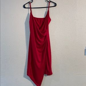 Red Zaful Size S Midi Dress With Tags